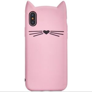 NEW & RARE Kate Spade Silicone Cat iPhone X Case